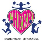 cheer heart is an illustration... | Shutterstock . vector #394856956