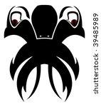 strange creature tattoo | Shutterstock .eps vector #39485989