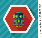 robot concept flat icon with... | Shutterstock .eps vector #394862836