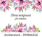 vintage delicate invitation...   Shutterstock .eps vector #394866316