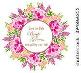 vintage delicate invitation... | Shutterstock .eps vector #394866352