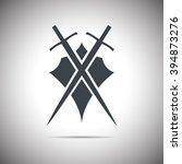 abstract illustration   shield... | Shutterstock . vector #394873276