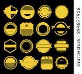 vector set of retro vintage... | Shutterstock .eps vector #394877926