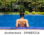 man ready to swimming in the... | Shutterstock . vector #394885216