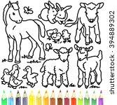 Coloring Book Cute Baby Animal...