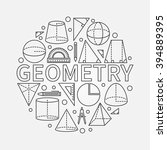 geometry round symbol   vector... | Shutterstock .eps vector #394889395