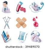 vector cartoon style icon set.... | Shutterstock .eps vector #39489070