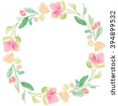 round wreath background.... | Shutterstock . vector #394899532
