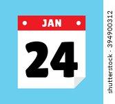 calendar icon flat january 24
