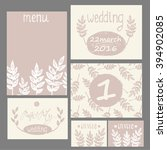 collection of 6 cute card... | Shutterstock .eps vector #394902085