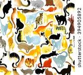 Cat. Watercolor Cat...
