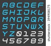 italic dynamic alphabet and... | Shutterstock .eps vector #394908175