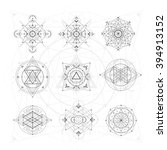 sacred geometry signs. set of... | Shutterstock .eps vector #394913152