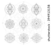 sacred geometry signs. set of... | Shutterstock .eps vector #394913158