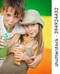 closeup portrait of cute... | Shutterstock . vector #394924432