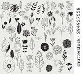 vector spring floral design... | Shutterstock .eps vector #394927558