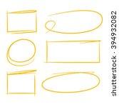 hand drawn marker elements ...   Shutterstock .eps vector #394932082