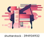piano design flat | Shutterstock .eps vector #394934932