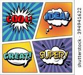 pop art banner. comics style.... | Shutterstock .eps vector #394941622