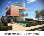suspended villa   render | Shutterstock . vector #394947982