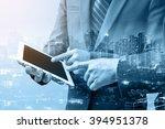 double exposure of two...   Shutterstock . vector #394951378