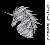 unicorn head designed using...   Shutterstock .eps vector #394956196