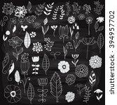 vector chalk drawn spring... | Shutterstock .eps vector #394957702