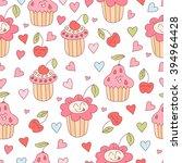 cute doodle seamless pattern... | Shutterstock .eps vector #394964428