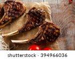 grilled foods   rack of lamb... | Shutterstock . vector #394966036