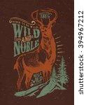 deer   wild deer   nable deer   ... | Shutterstock .eps vector #394967212