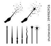 magic wands set. silhouettes... | Shutterstock .eps vector #394982926