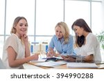 three female entrepreneurs... | Shutterstock . vector #394990288