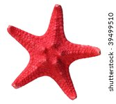 Red Starfish Isolated On A...