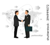 successful partnership ... | Shutterstock .eps vector #394999072