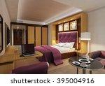 hotel  double bed room 3   Shutterstock . vector #395004916