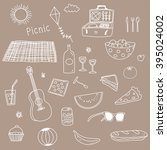 picnic doodle illustration... | Shutterstock .eps vector #395024002