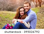 happy young couple  | Shutterstock . vector #395026792