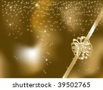 christmas background with stars ...   Shutterstock .eps vector #39502765