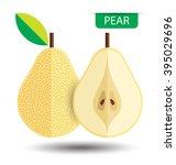 pear  fruit vector illustration | Shutterstock .eps vector #395029696