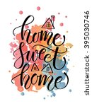 hand drawn typography poster.... | Shutterstock .eps vector #395030746