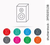 sound icon. musical speaker...   Shutterstock .eps vector #395035138
