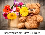 beautiful flowers in the box... | Shutterstock . vector #395044006