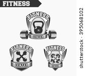 logo for fitness and gym.... | Shutterstock .eps vector #395068102