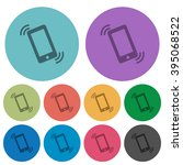 color ringing phone flat icon...