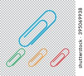 paper clip icon. color set with ... | Shutterstock .eps vector #395069938