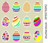 happy easter background with egg | Shutterstock .eps vector #395075092