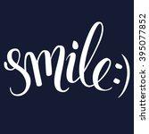 brush lettering in black and... | Shutterstock .eps vector #395077852
