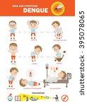 dengue fever symptoms info... | Shutterstock .eps vector #395078065
