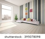 modern interior design of... | Shutterstock . vector #395078098