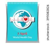 vector poster for 7 april ... | Shutterstock .eps vector #395082826